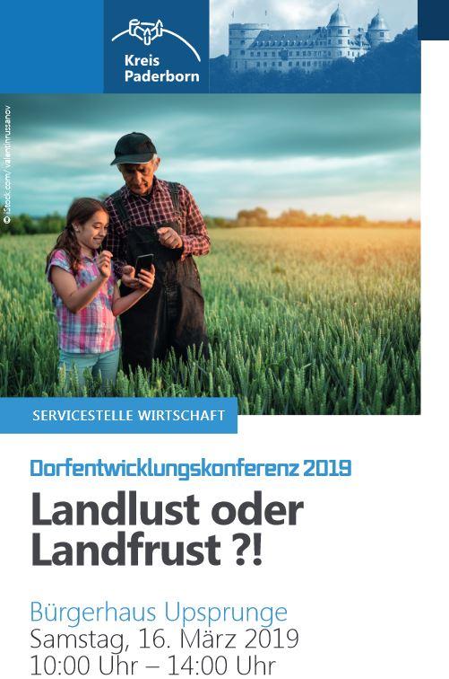 Flyer Dorfentwicklungskonferenz